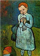 Pablo Picasso - Girl with Pigeon