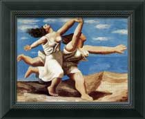 Picasso painting - Two Women Running on the Beach